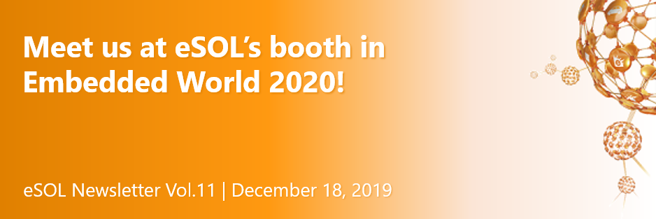 Meet us at eSOL's booth in Embedded World 2020!