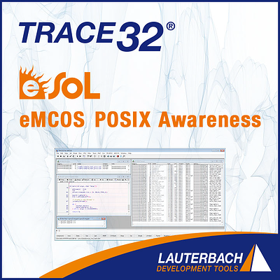 Lauterbach support for eMCOS® POSIX